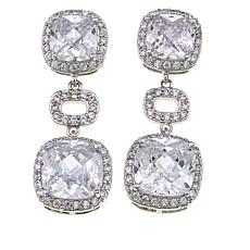 Joan Boyce 29.12ctw CZ 3-Tier Drop Earrings