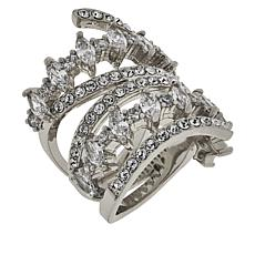 Joan Boyce Cubic Zirconia and Crystal Wrap Ring