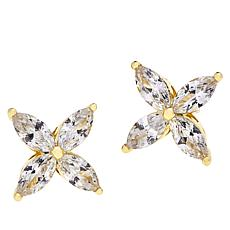 Joan Boyce Cubic Zirconia Flower Stud Earrings