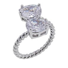"Joan Boyce Emily's ""You Roped Me In"" 4.60ctw CZ  Bypass Ring"