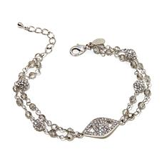 "Joan Boyce ""Eye Love You"" Angel-Eye Double-Row Bracelet"