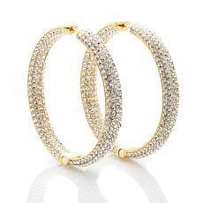 "Joan Boyce ""High Powered"" Inside-Outside Hoop Earrings"