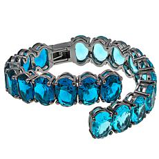 "Joan Boyce Noreen's ""Cuffed in Color"" Oval Stone Bypass Cuff Bracelet"