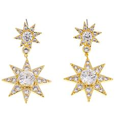 "Joan Boyce Sissy's ""Twinkle Little Star"" 7.32ctw CZ Drop Earrings"