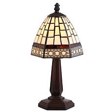 "JONATHAN Y Bronze Carter Tiffany-Style 12"" LED Table Lamp"