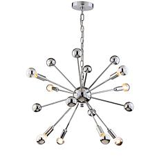 "JONATHAN Y Chrome Glenn 22.5"" 8-Light Metal Sputnik-style Chandelier"