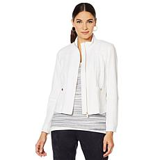 Jones New York Woven Bomber Jacket - Missy
