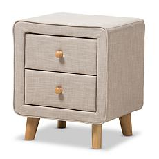 Jonesy Fabric Upholstered 2-Drawer Nightstand