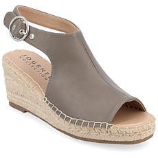 Journee Collection Women's Crew Wedge Sandal