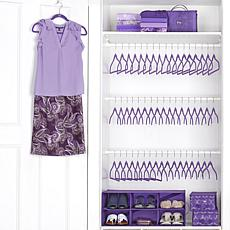 JOY 55pc Big Box Huggable Hangers Shoes Galore & More Cubby Set-Chrome