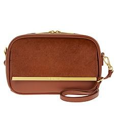JOY & IMAN Luxe Leather and Haircalf Crossbody Bag with RFID