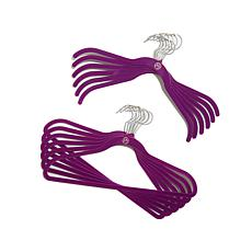 JOY Huggable Hangers® 100-pack with 12 Hooks - Chrome