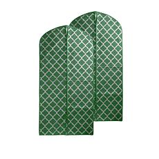 JOY Huggable Hangers® Set of 2 Metallic Print Garment Bags - Chrome