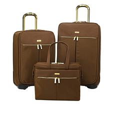 JOY Lightweight Nylon TuffTech™ Luxury Pinstripe 3-piece Luggage Set