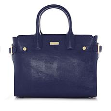 JOY Luxe Leather Lizard-Embossed City Collection Satchel with RFID