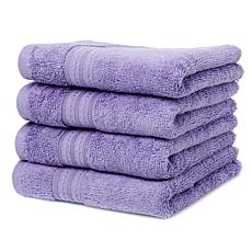 JOY Plush 4pc Bleach/Cosmetic-Resistant Hand Towel Set