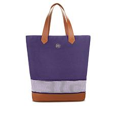 JOY Resort Chic Large Expandable Canvas Tote with RFID Security