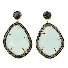 Joya Goldtone Sterling Silver Multi-Gemstone Drop Earrings