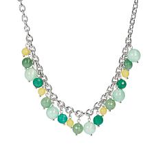 "Joyelle 18"" Sterling Silver Gemstone Dangle Necklace"