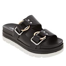 J/Slides NYC Baha Leather Sandal with Ring Buckles