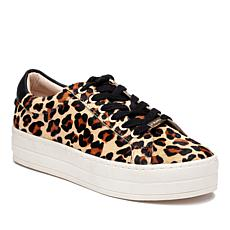 J/Slides NYC Hippie Leopard Print Haircalf Lace-Up Sneaker