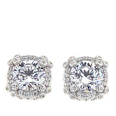 Judith Ripka 4.60ctw Diamonique® Sterling Silver Stud Earrings