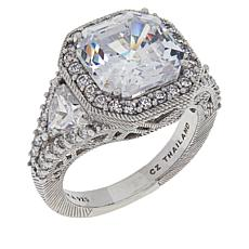 Judith Ripka Asscher-Cut Diamonique® Engagement Ring