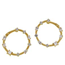 Judith Ripka Diamonique® Front-Facing Hoop Earrings