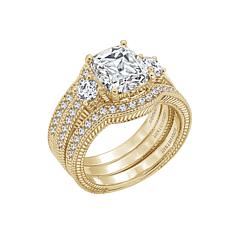 Judith Ripka Diamonique® Square-Cut Ring with Guard Set