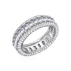 Judith Ripka Round-Cut Diamonique® Eternity Band Ring