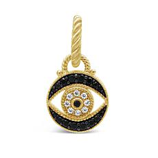 Judith Ripka Sterling Silver Diamonique® Gemstone Evil Eye Pendant