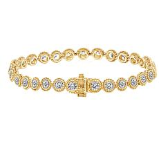 Judith Ripka Sterling Silver or Gold-Clad Diamonique® Tennis Bracelet