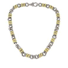 Judith Ripka Sterling Silver Textured Rolo-Link Necklace
