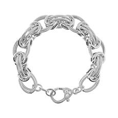 Judith Ripka Verona Textured and Polished Link Bracelet