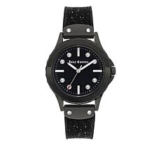 Juicy Couture Black Case Black Strap Watch