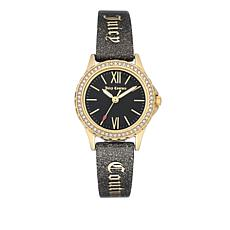 Juicy Couture Crystal Bezel Black Shimmer Juicy Bangle Watch