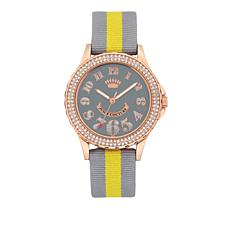 Juicy Couture Gray Dial Gray and Yellow Strap Watch