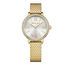 Juicy Couture Socialite Goldtone Stainless Steel Watch