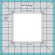 "June Tailor Get Squared Ruler with 8-1/2"" Outer"