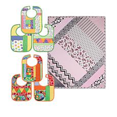 June Tailor Quilt As You Go Baby Bibs and Crib Quilt Set