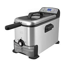 Kalorik 3.2-Qt Digital Deep Fryer w/Oil Filtration - Stainless Steel