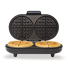Kalorik Double Belgian Waffle Maker - Black and Stainless Steel