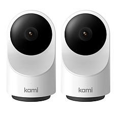 Kami 2-pack 360º Indoor Cameras with Emergency Alert