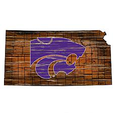 Kansas State Distressed State with Logo