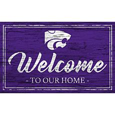 Kansas State University Team Color Welcome Sign - 11x19""