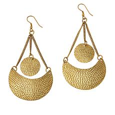 KENDI AMANI Diani Goldtone Tiered Drop Earrings