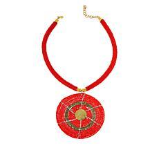 """KENDI AMANI Karani 17"""" Hand-Beaded Drop Necklace"""