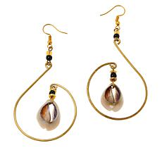 KENDI AMANI Mombasa Goldtone Cowrie Shell Earrings