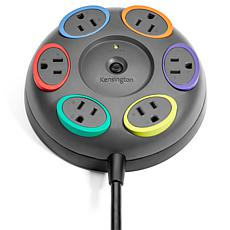 Kensington SmartSockets Color-Coded Surge Protector with 6 Outlets