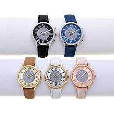Kessaris Set of 5 Glitter Dial Watches